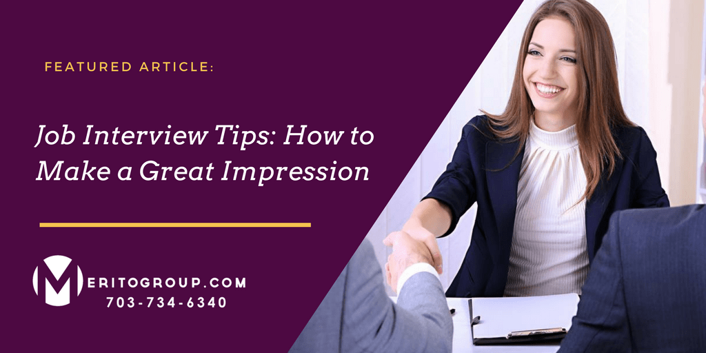 how to make a positive impression in a job interview